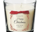 Work colleague Christmas present personalised candle xmas Friend Boss Manager Staff pressie gift XM05a