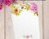 DIY Make your own Blank Wedding Table Plan Cards Seating Set vintage floral flower x12 pack FLC_06