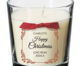 Wife Sister Mum Dad Aunty Uncle christmas present personalised candle xmas Brother Daughter Son pressie gift XM05