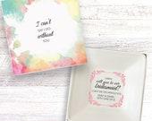 Will you be my bridesmaid present personalised gift dish jewellery trinket box keepsake DH_01