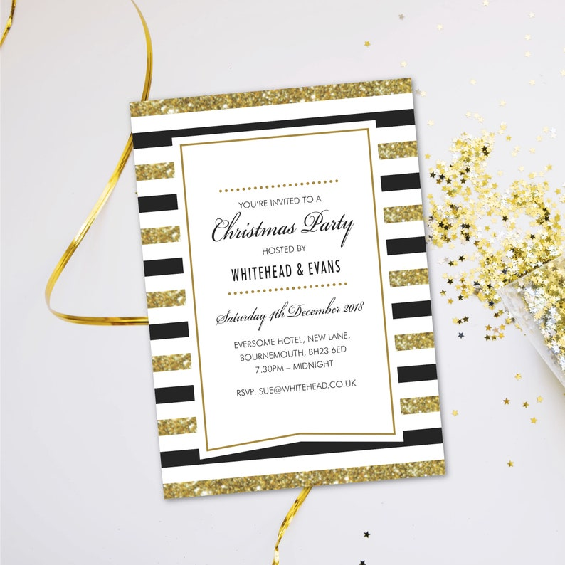 Christmas work do office company staff party invitations. image 0