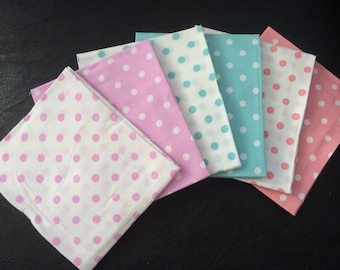 Pastel Funky Spot Fat Quarter bundle 100% cotton