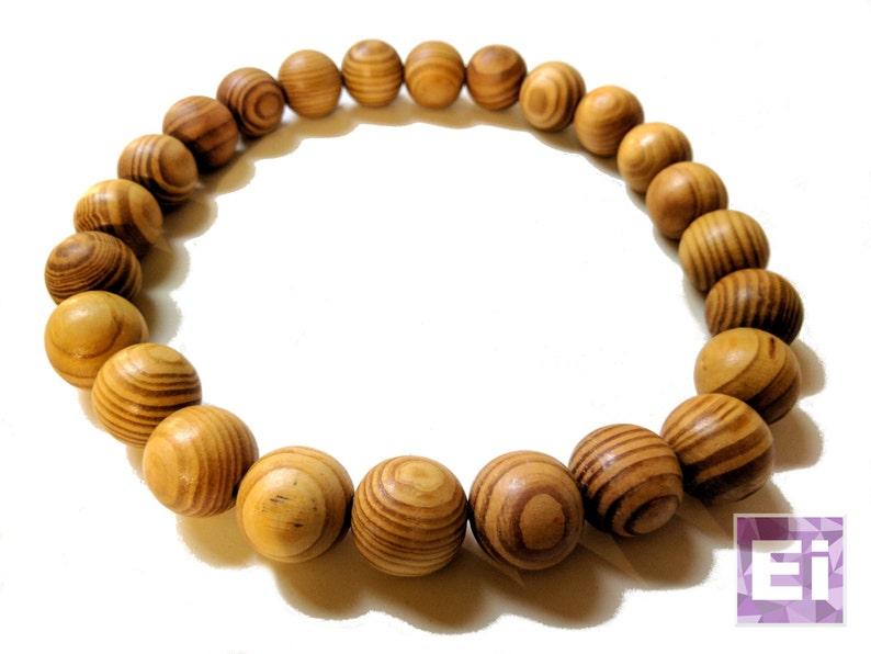 "Realistic 16"" Wood Bead Necklace Fashion Jewelry"