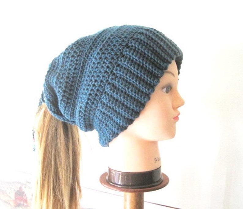 Women s Ponytail Hat PATTERN Crochet Slouchy Ponytail  b0ad311c9e7