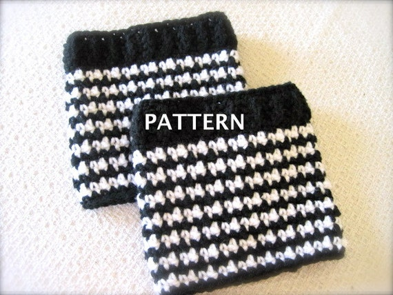 Boot Cuff Pattern Crochet Pattern Boot Cuffs Houndstooth Etsy