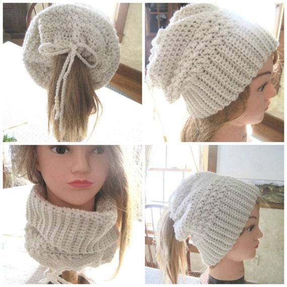 Crochet Ponytail Hat PATTERN Style 2 Ponytail Beanie  e944a11ea08