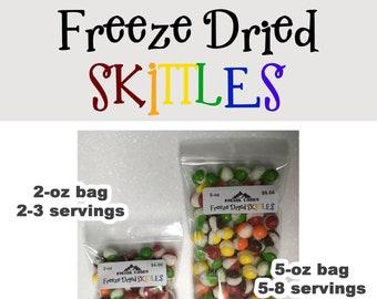 Freeze Dried SKITTLES candy snack freeze dried snacks kids fair food treats