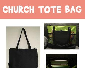 Tote Bag-Church Bag-Beach Bag church bag relief society tote bag diaper bag primary leader bag travel bag young women