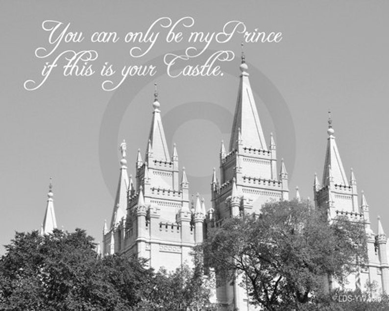 You can only be my Prince if this is your Castle print image 0