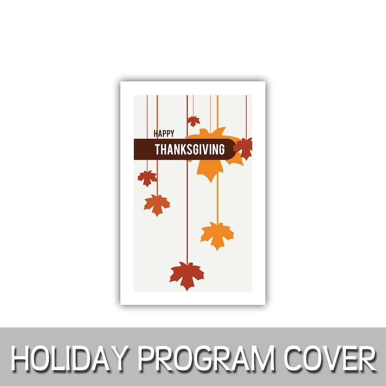 Happy Thanksgiving Fall Autumn hanging falling leaves program image 0
