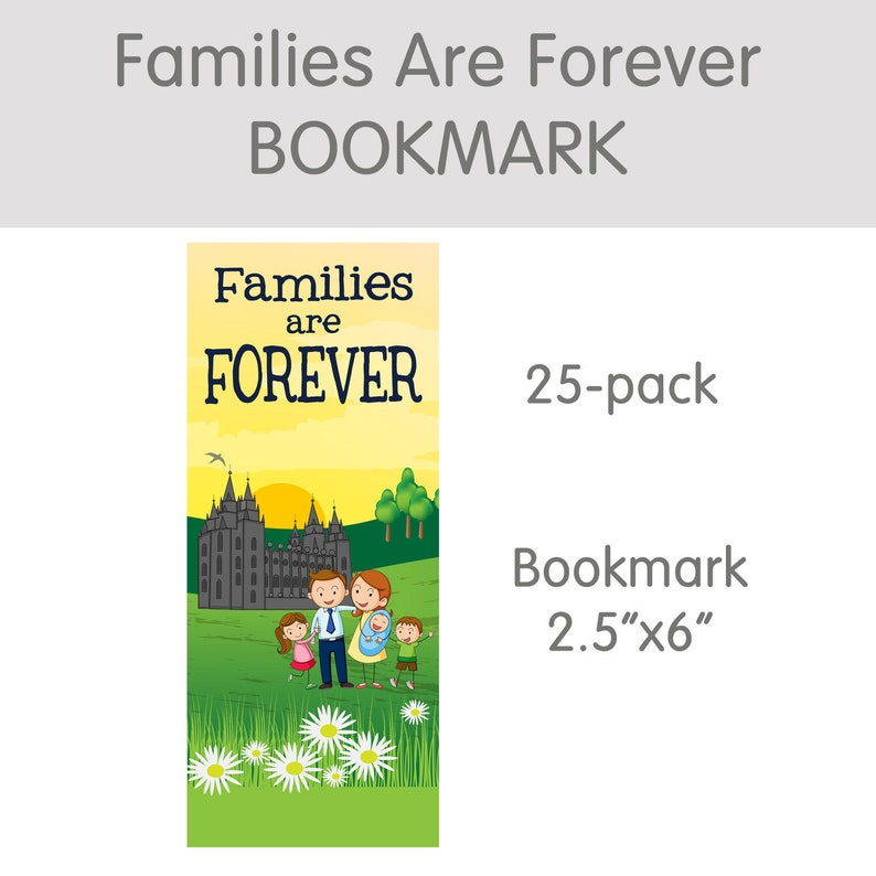 Families Are Forever bookmark 25-pack LDS primary temple image 0
