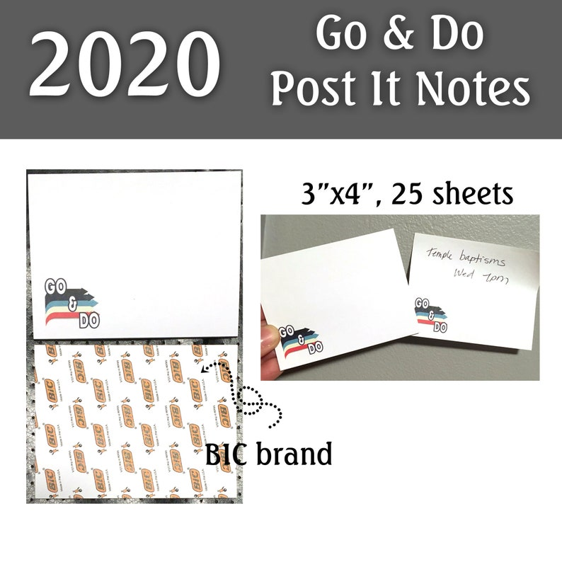 2020 Go & Do Post It Notes 3x4 25 sheets  2-PACK image 0