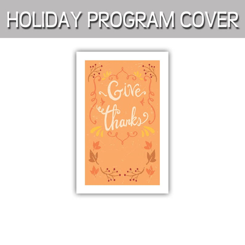 Give Thanks Thanksgiving Fall Autumn program cover image 0