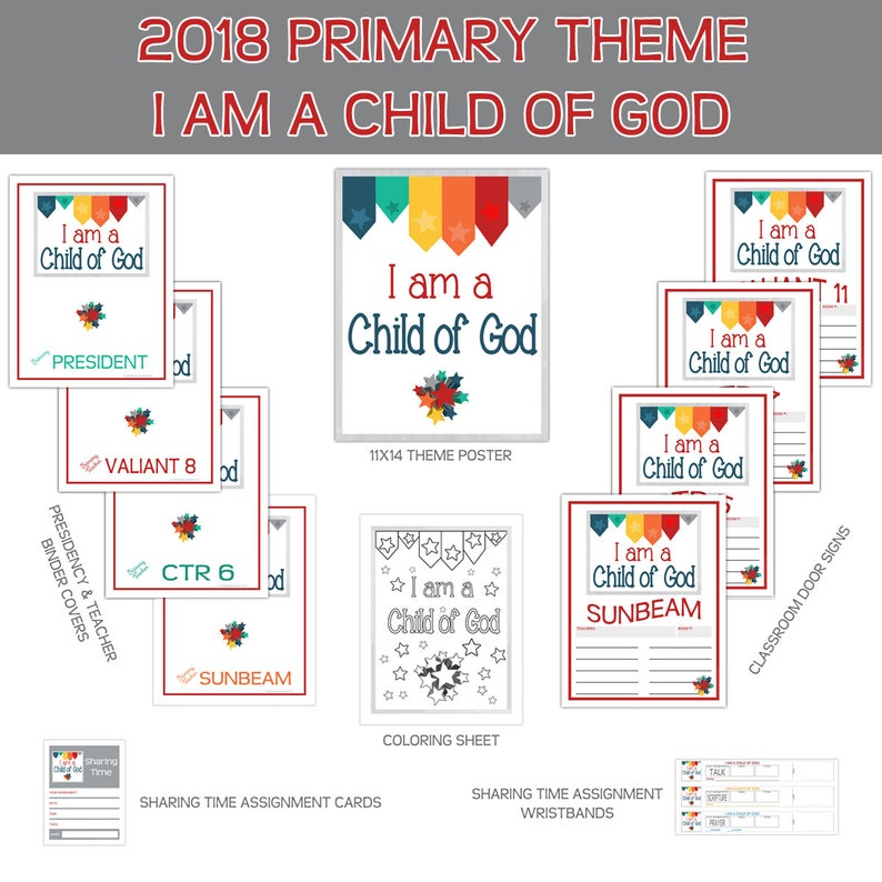 Primary Bundle I am a child of God Primary LDS Child of God image 0