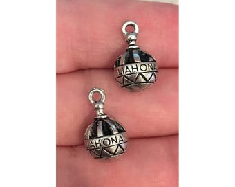 Liahona silver CHARM (2) LDS charm antique pewter - 2 charms per pack