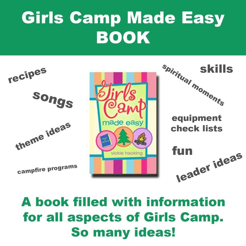 Girls Camp Made Easy Book  young women camp latter-day saint image 0