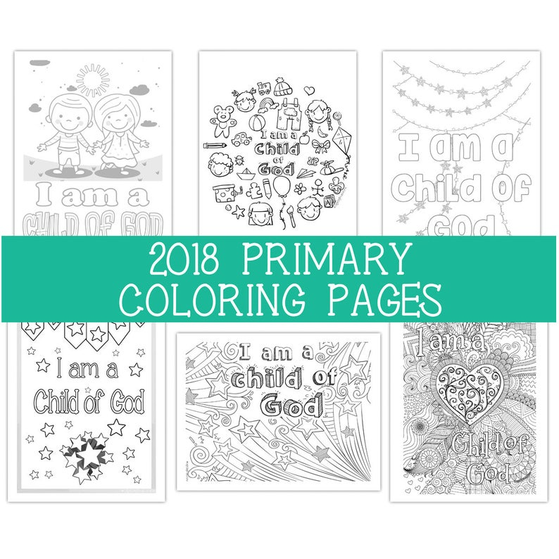 2018 Primary Coloring Pages 8.5x11  Six 6 image 0