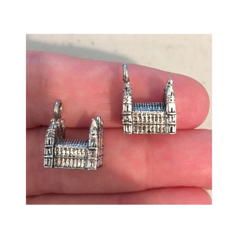 Salt Lake City Temple CHARM 2 LDS charm antique pewter  2 image 0