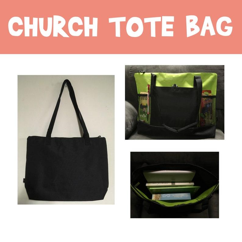 Tote Bag-Church Bag-Beach Bag church bag relief society tote image 0