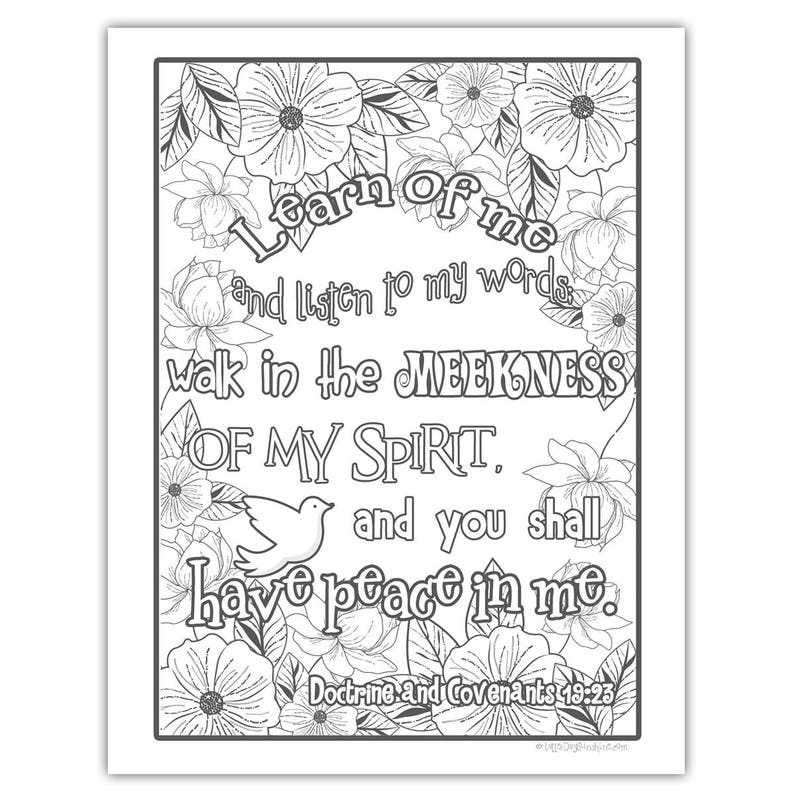 2018 Mutual Theme Coloring Page 8.5x11  Floral image 0