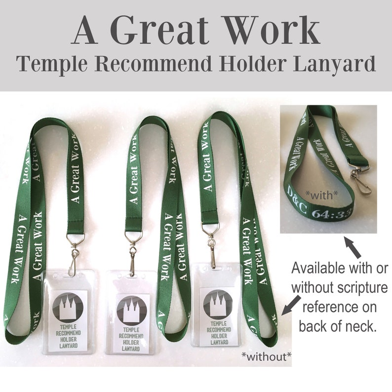 2021 A Great Work Temple Recommend Holder Lanyard with pouch  image 1