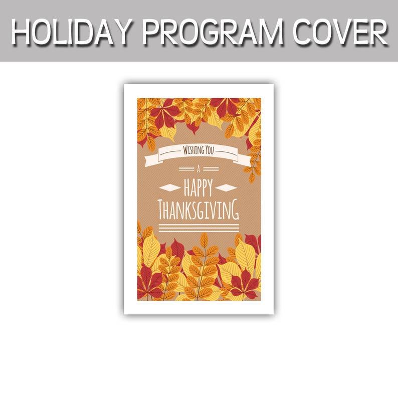 Happy Thanksgiving wishing you a Happy Thanksgiving program image 0