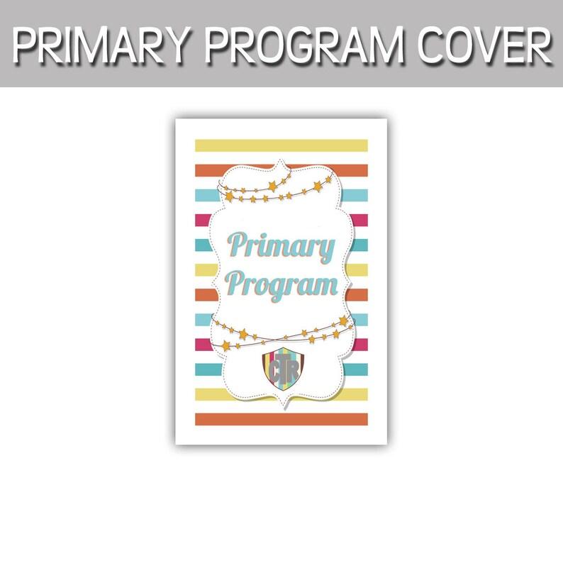 Primary Program CTR stripes program cover 8.5x11 image 0