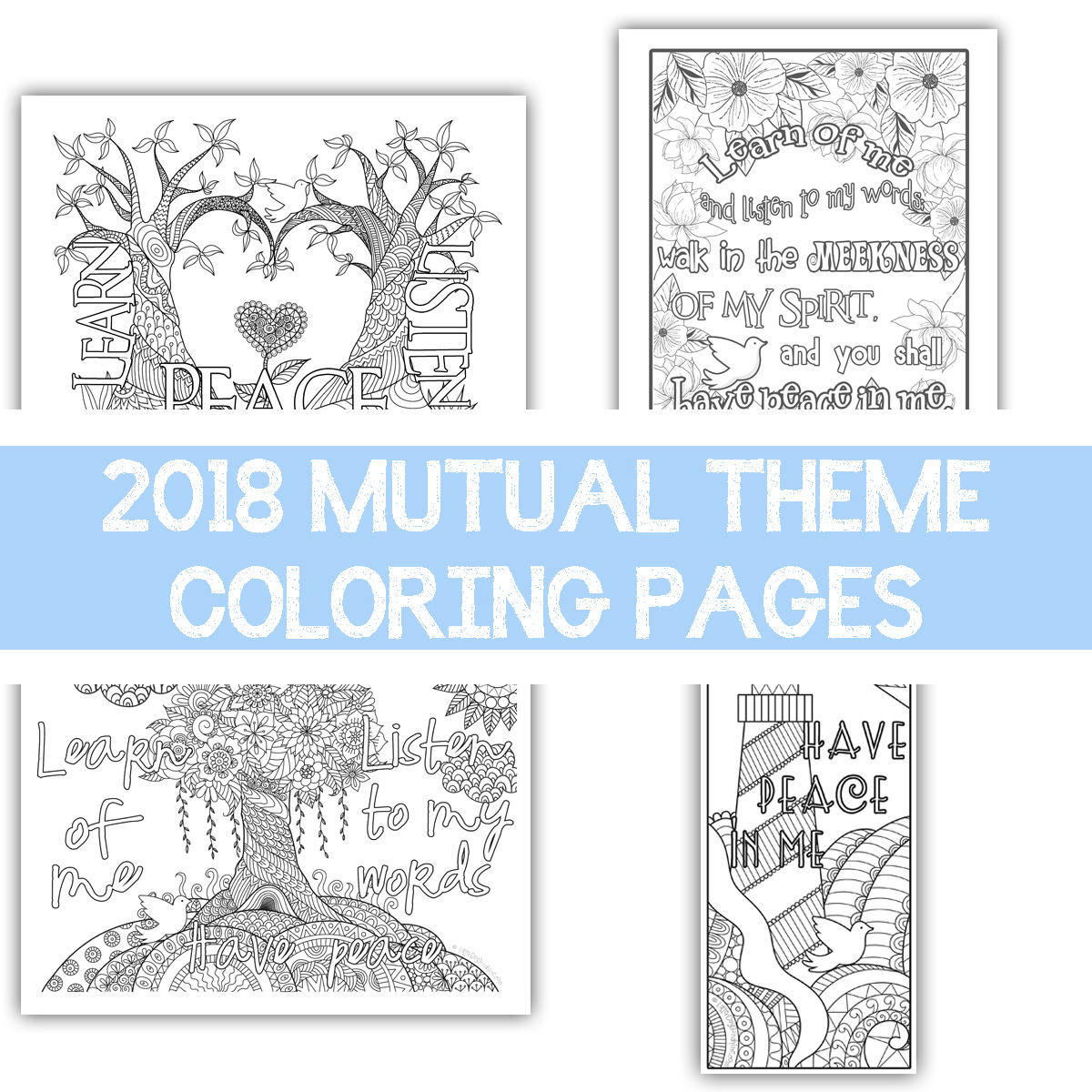 Package Of All Four 2018 Mutual Theme Coloring Pages