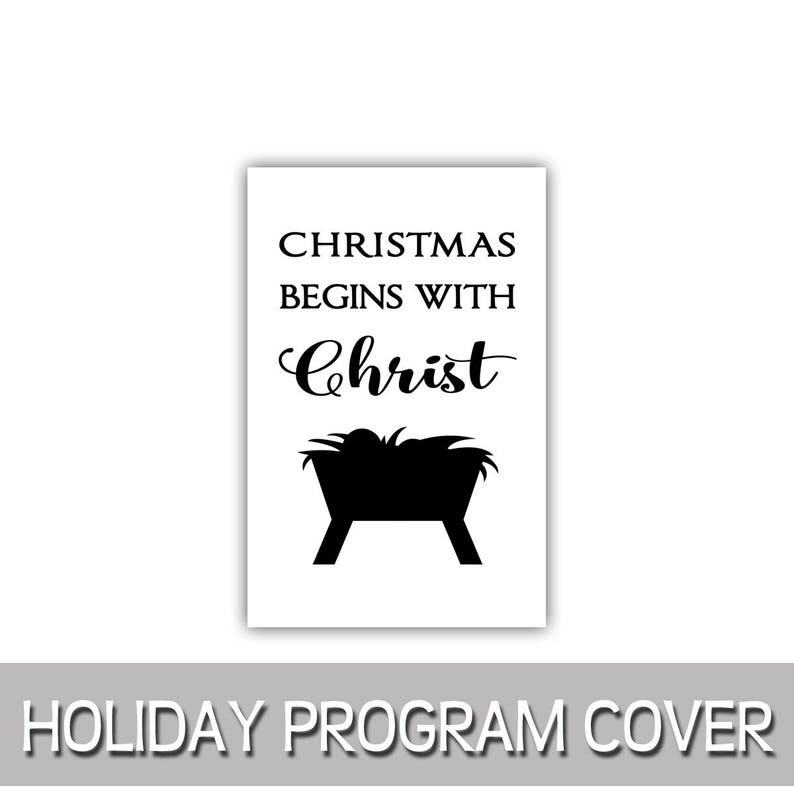 Christmas begins with Christ program cover 8.5x11 image 0