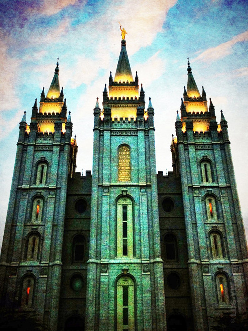 Emerald Temple  Salt Lake City Temple Print image 0