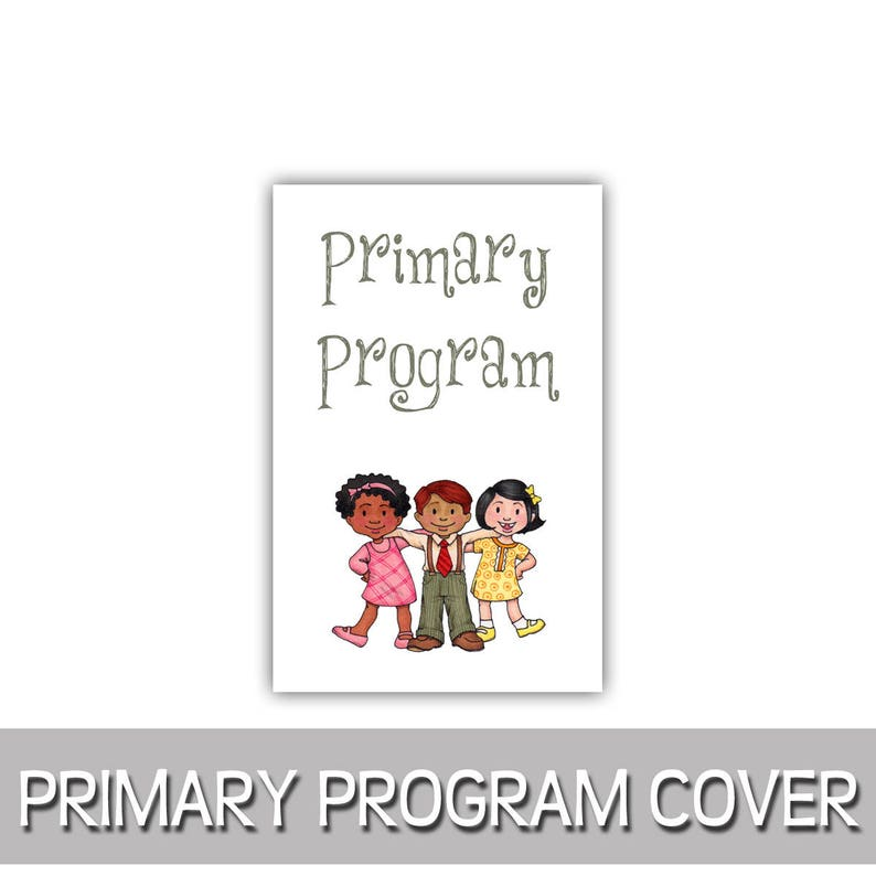 Primary Program Primary kids program cover 8.5x11 image 0