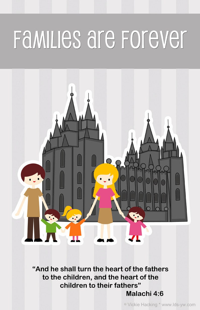 LARGE POSTER PRINT  Families Are Forever  salt lake temple image 0