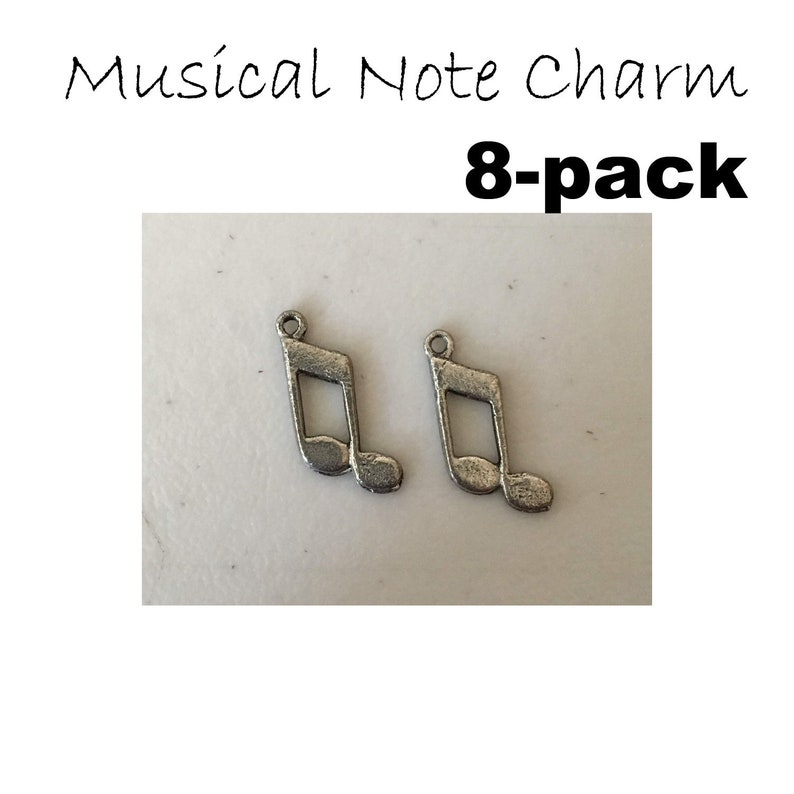 Musical Note charm eight 8 pack musical music notes band image 0