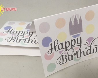 Happy Birthday Note Card LDS Young Women w/Temple