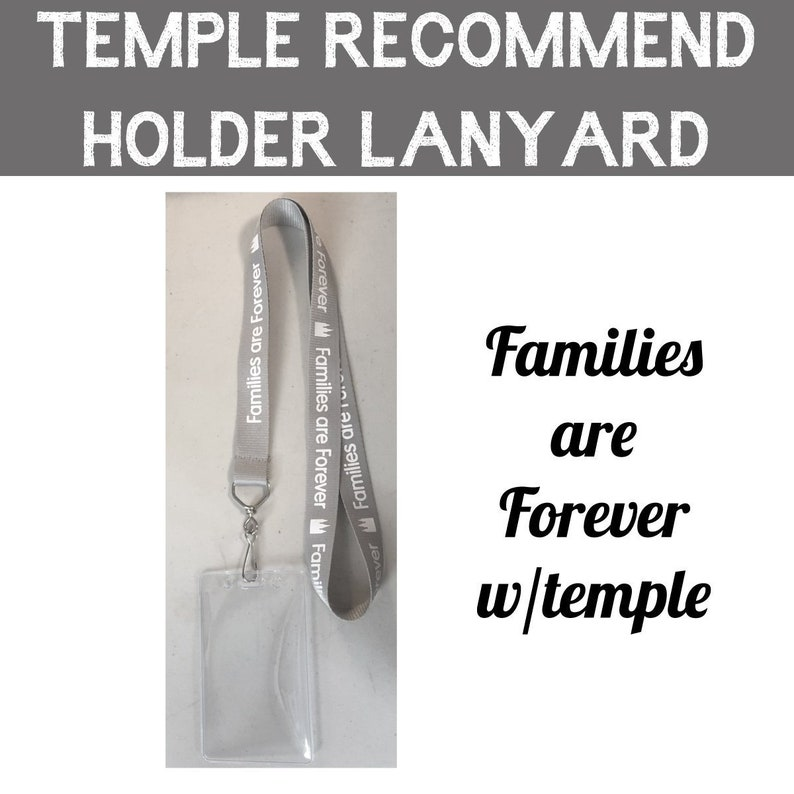 Temple Recommend Lanyard with pouch Families are Forever  image 0