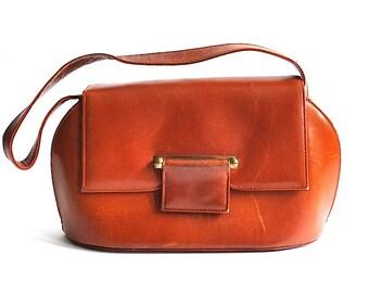 Vintage Saks Fifth Avenue Lennox Faux Leather Handbag