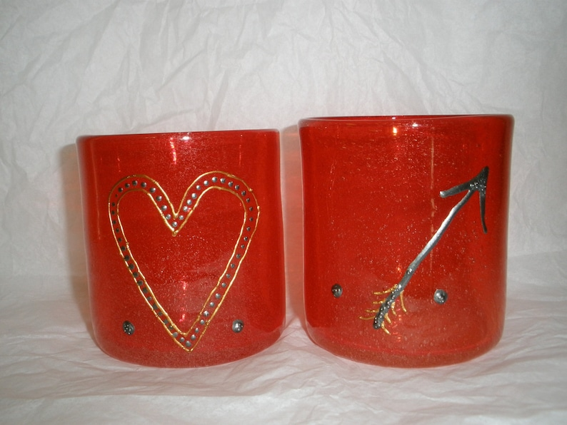 Arrow. Heart. Red. Love. Steampunk Rocks Tumbler Juice image 0