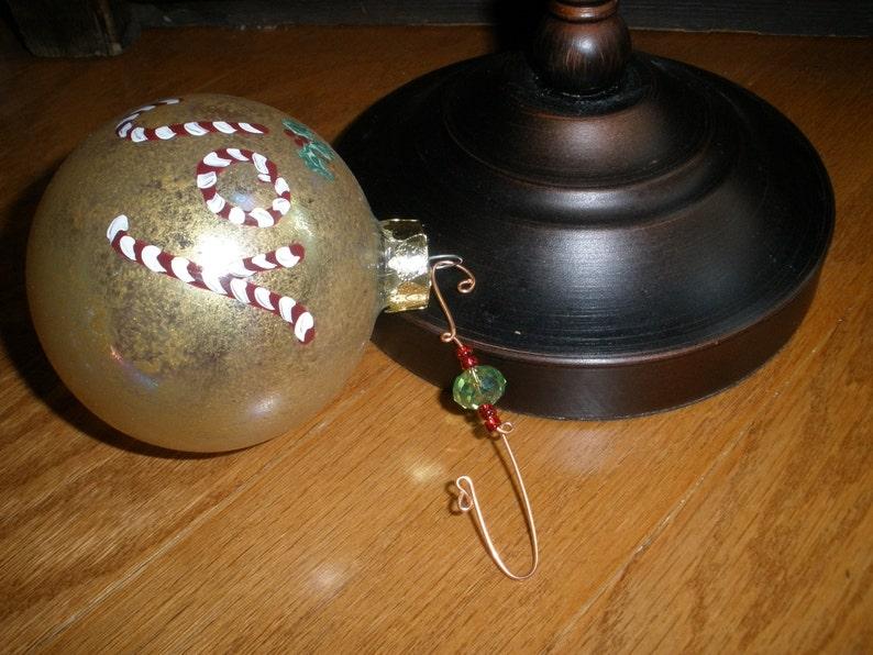 ornament hangers. ornament hooks. handmade. Christmas decor. image 0