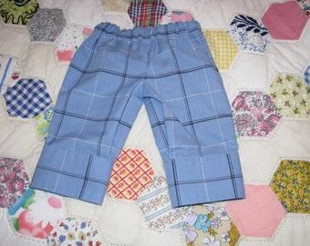 Newborn Sized Pants Made from a Dress Shirt