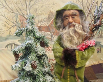 Art Doll/Santa/Polymer Clay/Collectible/Art/Hand Sculpted/OOAK/Christmas/Heirloom/Old World Santa/Handmade Santa