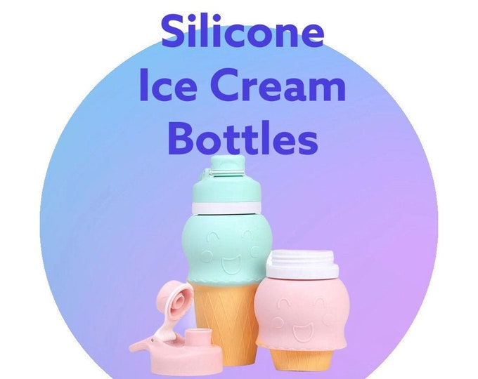 FREE SHIPPING  Silicone Ice Cream Cup Water bottle