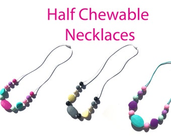 SillyMunk™ Silicone Teething Half Necklaces