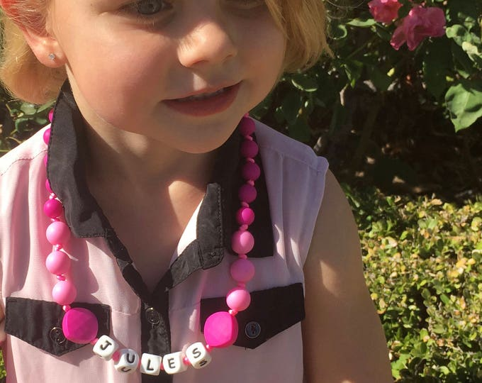 SillyMunk™ Personalized Teething Children's Necklace