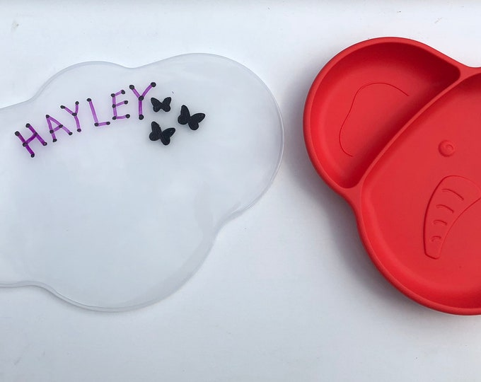 Personalized Toddler Silicone Placemat