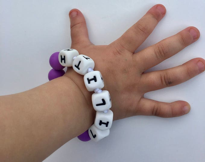 SillyMunk™ Silicone Personalized Teething Bracelet BPA Free