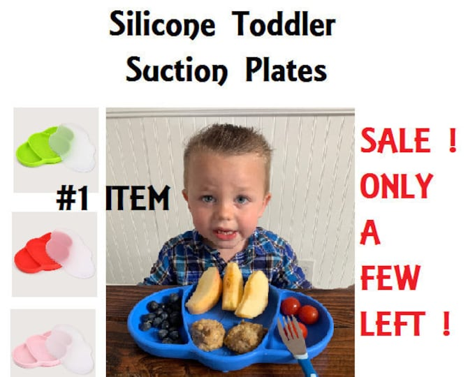 Featured listing image: Baby Toddler Silicone Suction feeding plate /Placemat