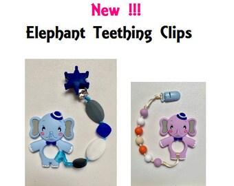 SillyMunk™ Silicone Teething Clip- Elephant