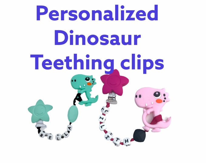 SillyMunk™ Silicone chewable clips-dinosaur