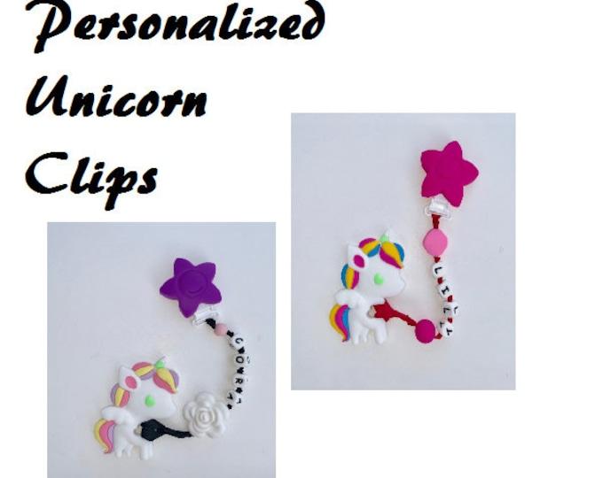 SillyMunk™ Silicone Teething Unicorns Persinalized