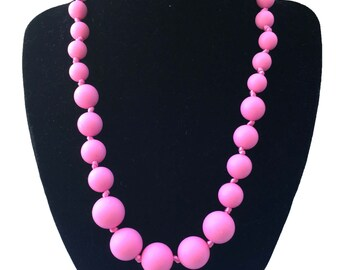 SillyMunk™ Silicone Teething Autistic Necklaces for Kids  Light Pink